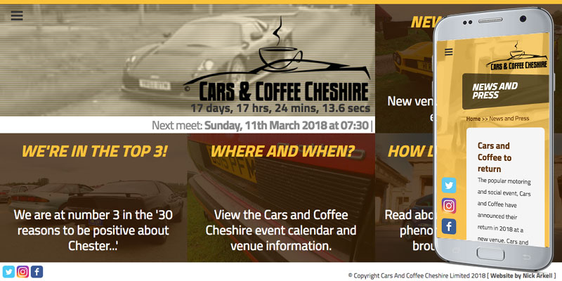carsandcoffeecheshire.co.uk screenshot