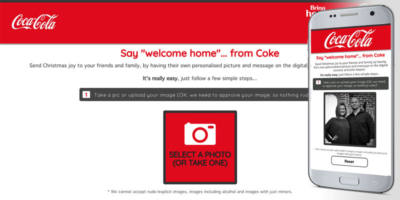 welcomehomefromcoke.com screenshot